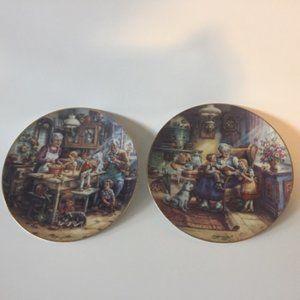 Bradex Plates. Lovely Family Theme. Vintage